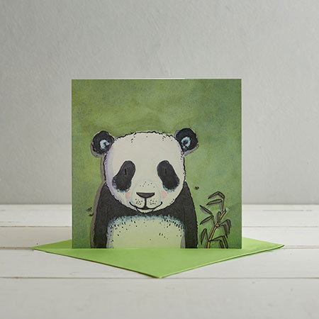Buy Panda Greetings Card 'Emily' from Helen Wiseman Illustration