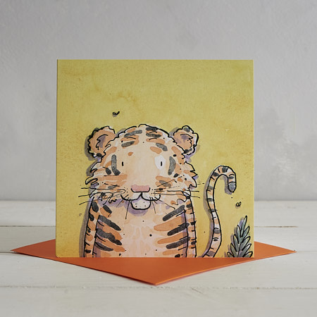 Buy Tiger Greetings Card 'Dudley' from Helen Wiseman Illustration