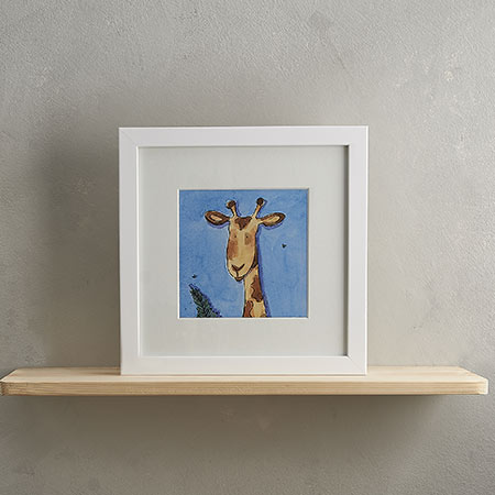 Buy Giraffe Print 'Gary' from Helen Wiseman Illustration