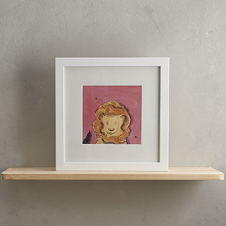 Buy Lion Print 'Rusty' from Helen Wiseman Illustration