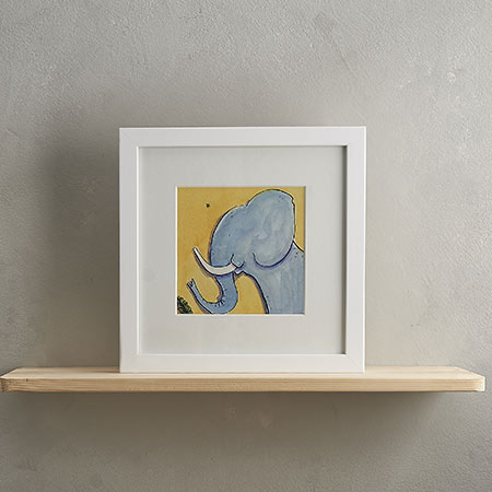 Buy Elephant Print 'Marjory' from Helen Wiseman Illustration