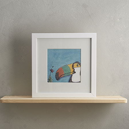 Buy Toucan Print 'Tabitha' from Helen Wiseman Illustration