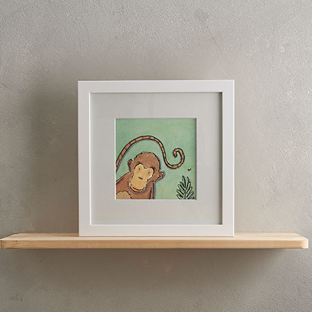 Buy Monkey Print 'Charley' from Helen Wiseman Illustration