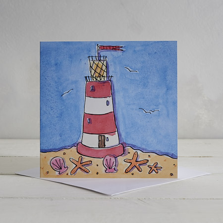 Buy Lighthouse Greetings Card from Helen Wiseman Illustration