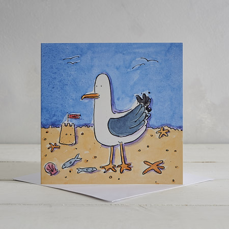 Buy Seagull Greetings Card 'Clive' from Helen Wiseman Illustration