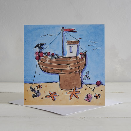 Fishing Boat Greetings Card