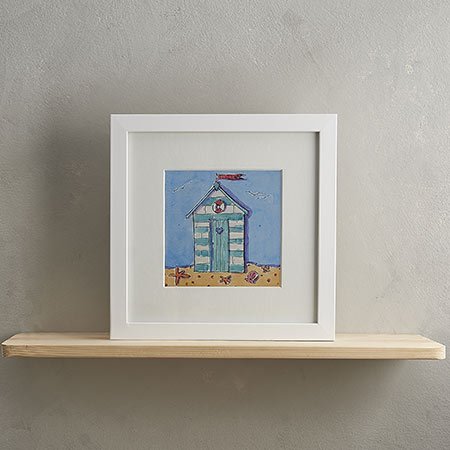 Buy Beach Hut Print 'Beach Hut' from Helen Wiseman Illustration