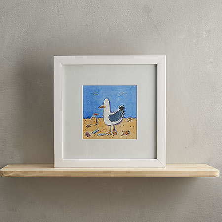 Buy Seagull Print 'Clive' from Helen Wiseman Illustration