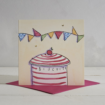 Buy Biscuit Tin Greetings Card from Helen Wiseman Illustration