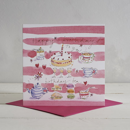 Buy Happy Birthday Tea Greetings Card from Helen Wiseman Illustration
