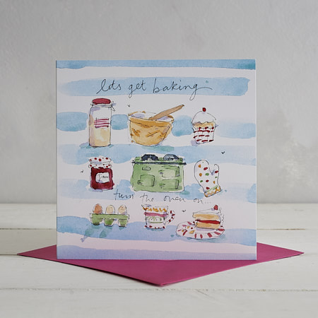 Buy Let's get Baking Greetings Card from Helen Wiseman Illustration
