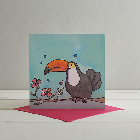 Buy Toucan Greetings Card from Helen Wiseman Illustration
