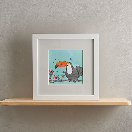 Buy Toucan Print with Frame from Helen Wiseman Illustration
