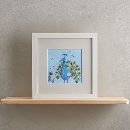 Peacock Print with Frame