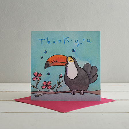 Buy Thank You Toucan Greetings Card from Helen Wiseman Illustration