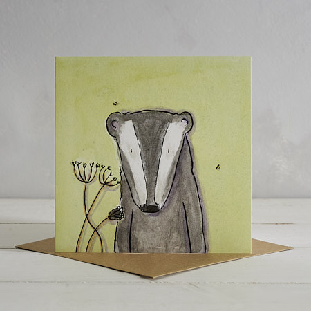 Buy Badger Greetings Card 'Barry' from Helen Wiseman Illustration