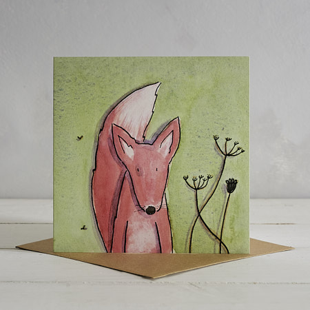 Fox Greetings Card 'Fred'
