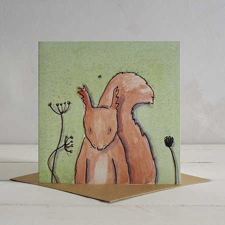 Buy Squirrel Greetings Card 'Sidney' from Helen Wiseman Illustration