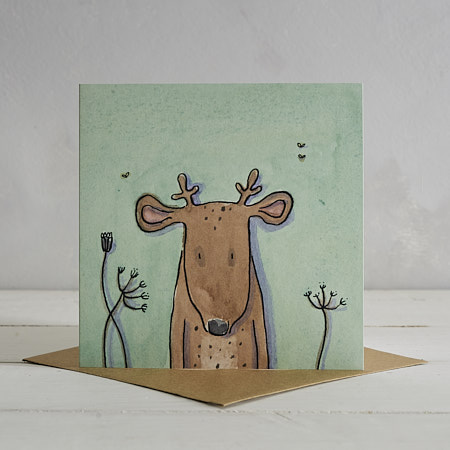Buy Deer Greetings Card 'Donald' from Helen Wiseman Illustration
