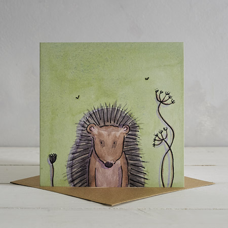 Buy Hedgehog Greetings Card 'Hermione' from Helen Wiseman Illustration