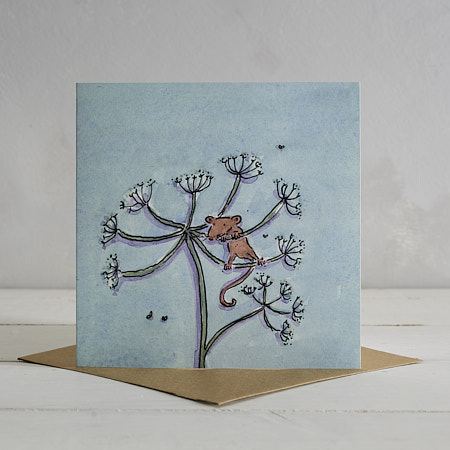Buy Fieldmouse Greetings Card 'Molly' from Helen Wiseman Illustration