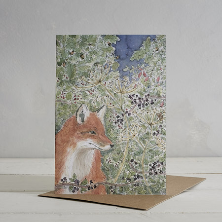 Buy Mr Fox Greetings Card from Helen Wiseman Illustration