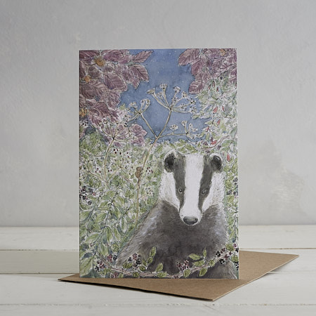 Buy Mr Badger Greetings Card from Helen Wiseman Illustration
