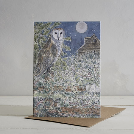 Buy Mr Owl Greetings Card from Helen Wiseman Illustration