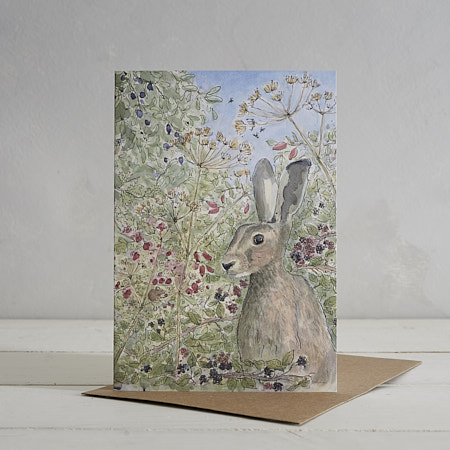 Buy Mr Hare Greetings Card from Helen Wiseman Illustration