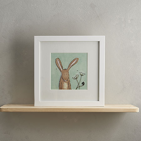 Buy Hare Print with Frame 'Horace' from Helen Wiseman Illustration