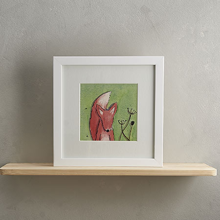 Buy Fox Print with Frame 'Fred' from Helen Wiseman Illustration