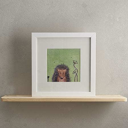 Buy Hedgehog Print with Frame 'Hermione' from Helen Wiseman Illustration