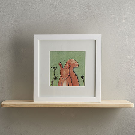Buy Squirrel Print with Frame 'Sidney' from Helen Wiseman Illustration