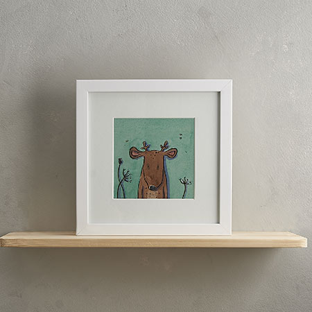 Buy Deer Print with Frame 'Donald' from Helen Wiseman Illustration
