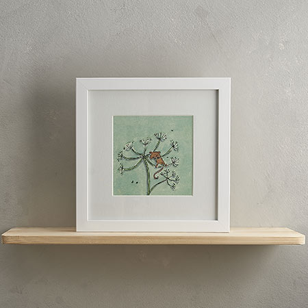 Buy Fieldmouse Print with Frame 'Molly' from Helen Wiseman Illustration