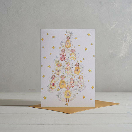 Buy Angel Christmas Tree Christmas Card from Helen Wiseman Illustration