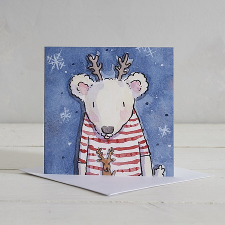 Buy Polar bear Christmas Card from Helen Wiseman Illustration