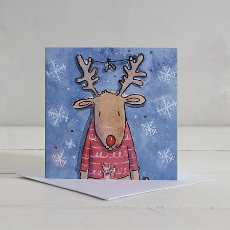 Buy Rudolph Christmas Card from Helen Wiseman Illustration