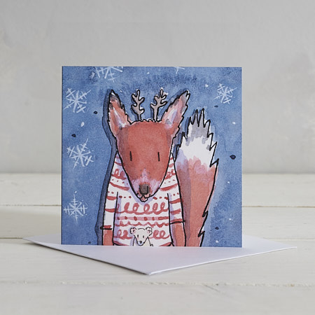 Buy Fox Christmas Card from Helen Wiseman Illustration