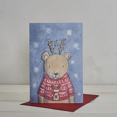 Buy Christmas Bear Christmas Card from Helen Wiseman Illustration