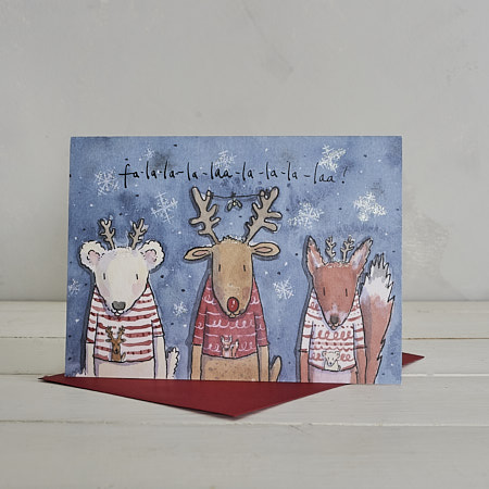 Buy Christmas Fa-La-Laa Christmas Card from Helen Wiseman Illustration