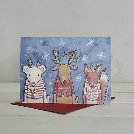 Buy Christmas Jumpers Christmas Card from Helen Wiseman Illustration