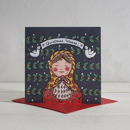 Buy Russian Doll Christmas Card from Helen Wiseman Illustration