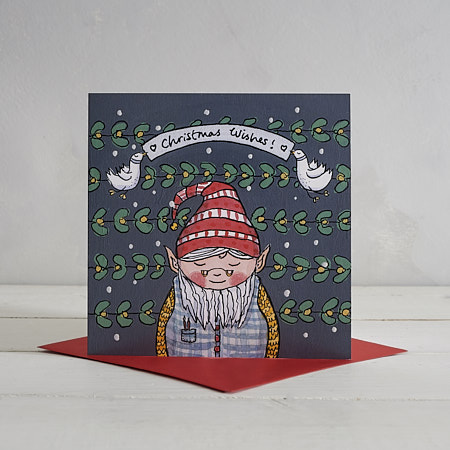 Buy Leprechaun Christmas Card from Helen Wiseman Illustration