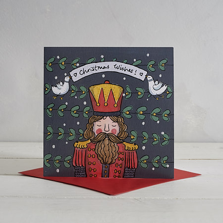 Buy Nutcracker Soldier Christmas Card from Helen Wiseman Illustration