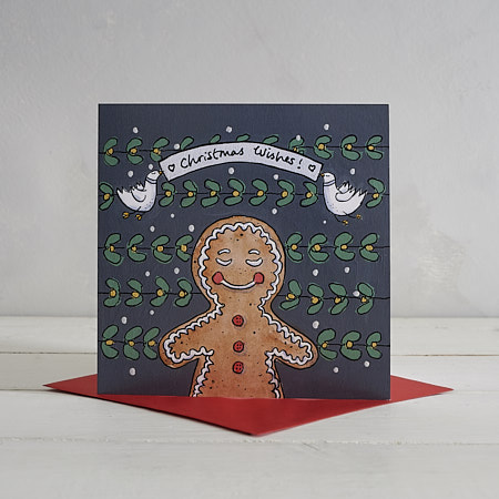 Buy Gingerbread Man Christmas Card from Helen Wiseman Illustration