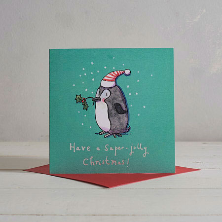 Buy Little Penguin Christmas Card from Helen Wiseman Illustration