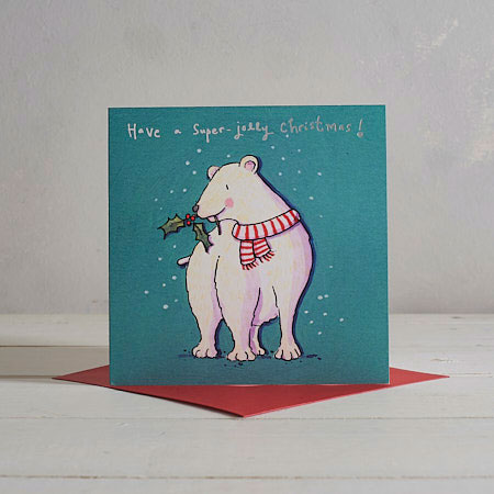 Buy Jolly Polar Bear Christmas Card from Helen Wiseman Illustration