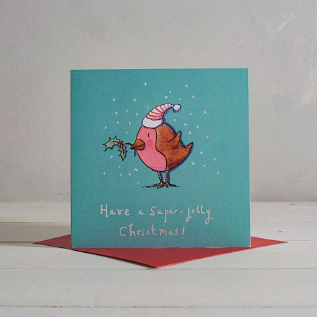 Buy Little Robin Christmas Card from Helen Wiseman Illustration