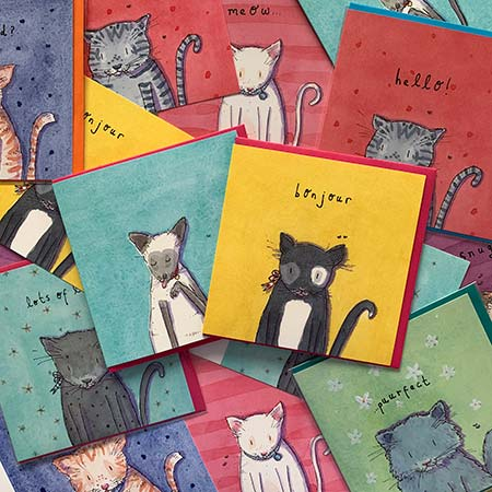 Buy Cats Greetings Cards from Helen Wiseman Illustration